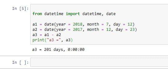 python datetime module