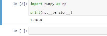 numpy array