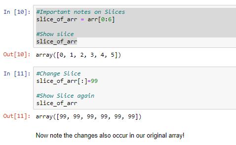 numpy array index